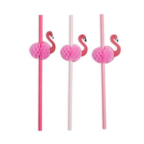 Flamingo Fancy Straws