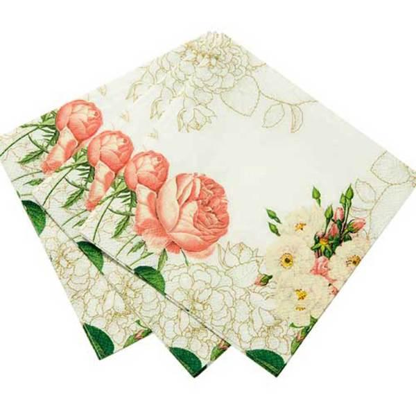 SALE!  Rose Blossom Paper Beverage Napkins