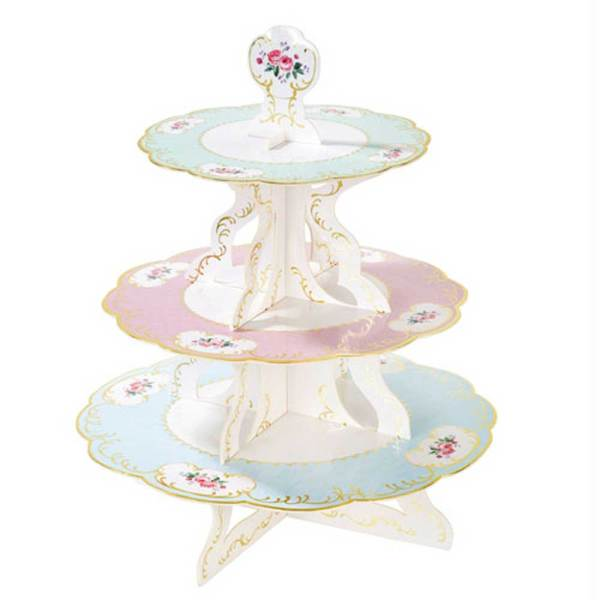 Truly Chintz  Reversible Pastry Stand