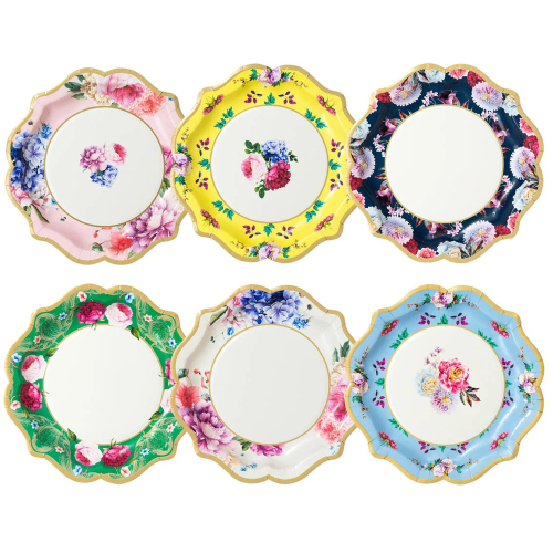 Truly Scrumptious Floral Paper Plates