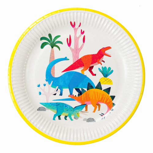 LTD QTY!  Party Dinosaur Plates