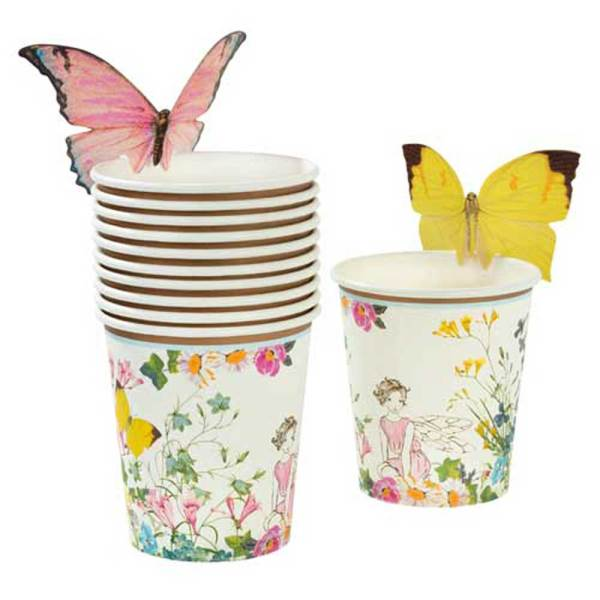 Truly Fairy Paper Cups with Butterflies