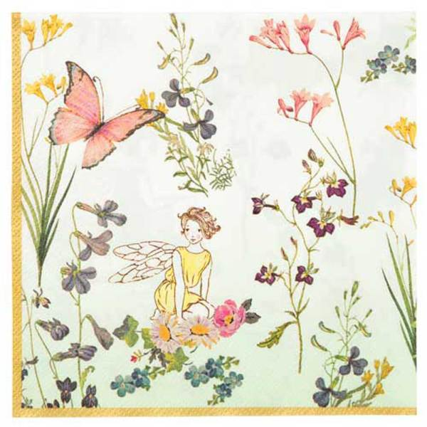 LTD QTY!  Truly Fairy Paper Luncheon Napkins