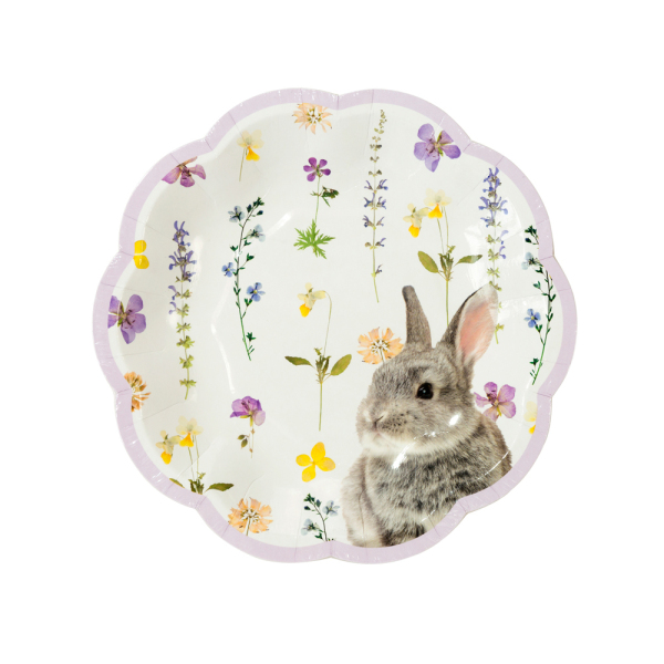 Truly Bunny Paper Lunch Plates