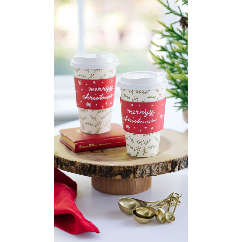 Holly Coffee & Cocoa Cups