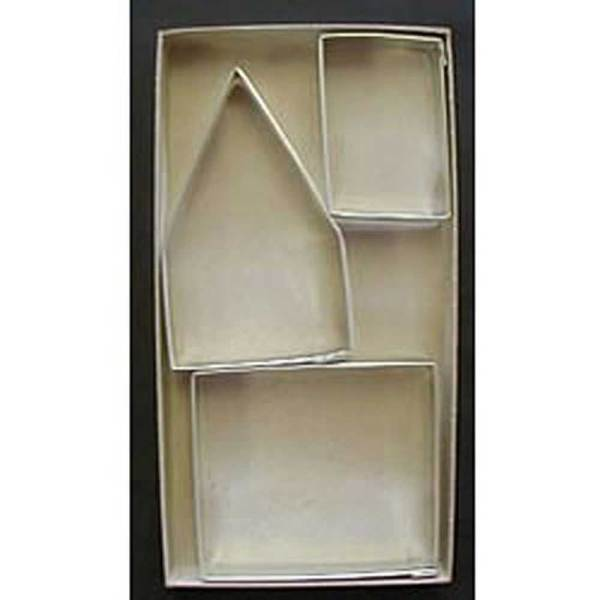 Gingerbread House Cutter Set of 3, Tin