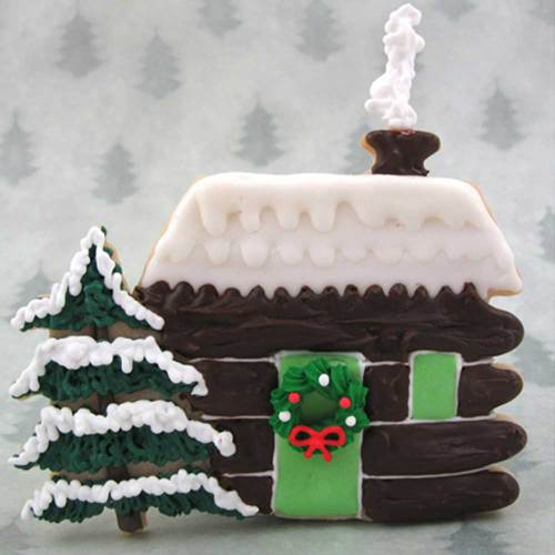 Log Cabin Christmas Cookie Cutter, Hammer Song