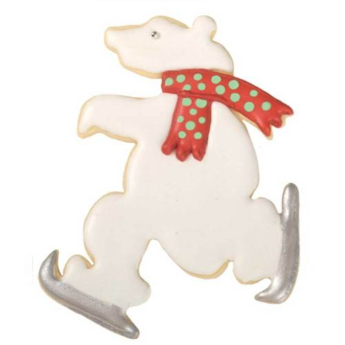 Skating Polar Bear Cookie Cutter, Hammer Song