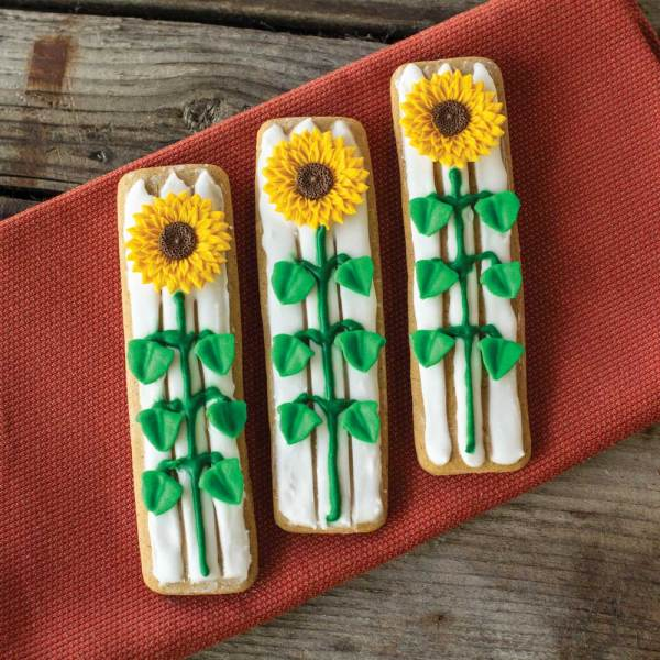 LTD QTY!  Sunflower Icing Decorations