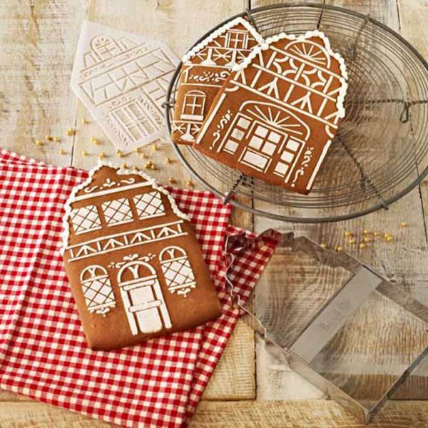 Winter Village Cutter & Stencil Set