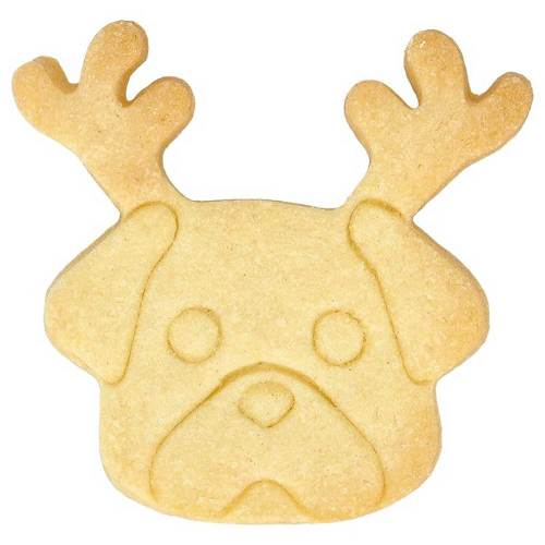 Christmas Pug Cookie Cutter
