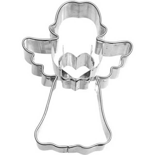 Angel with Heart Cookie Cutter