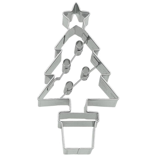 Small Christmas Tree in Pot Cookie Cutter