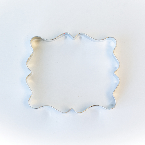 Fancy Rectangle Plaque Cookie Cutter