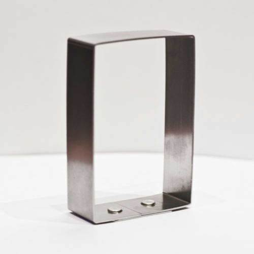 "Rectangle Aluminum 3"" x 2""  Cookie Cutter"