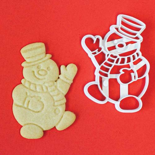 Frosty Snowman Impression Cookie Cutter