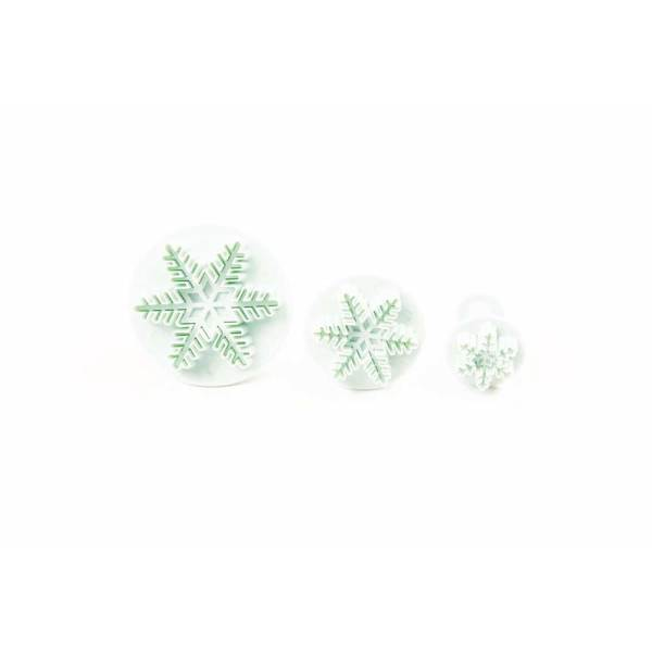 Snowflake Fondant Plunger Cutter Set