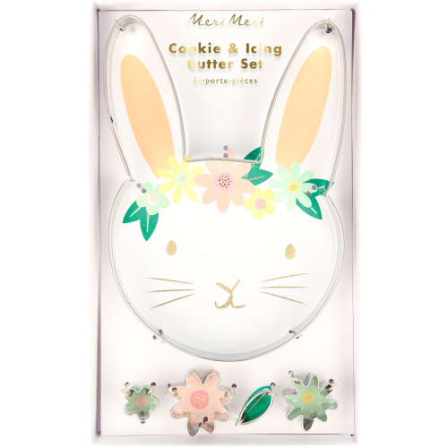 SALE!  Floral Bunny Cookie Cutter Set