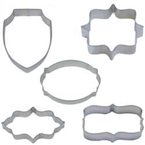 5 Piece Plaque Cookie Cutter Set