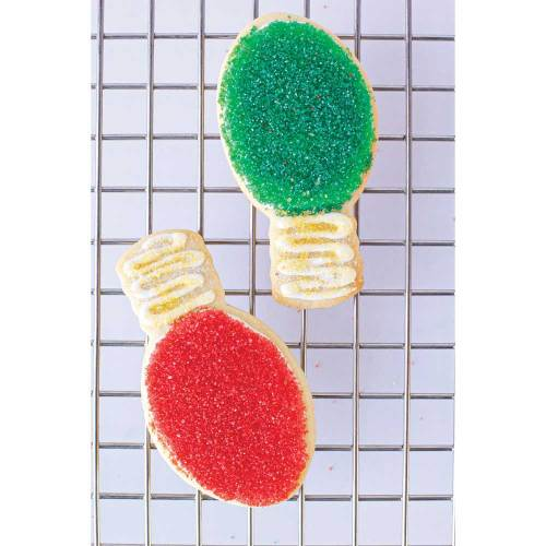 Red Holiday Lightbulb Cookie Cutter