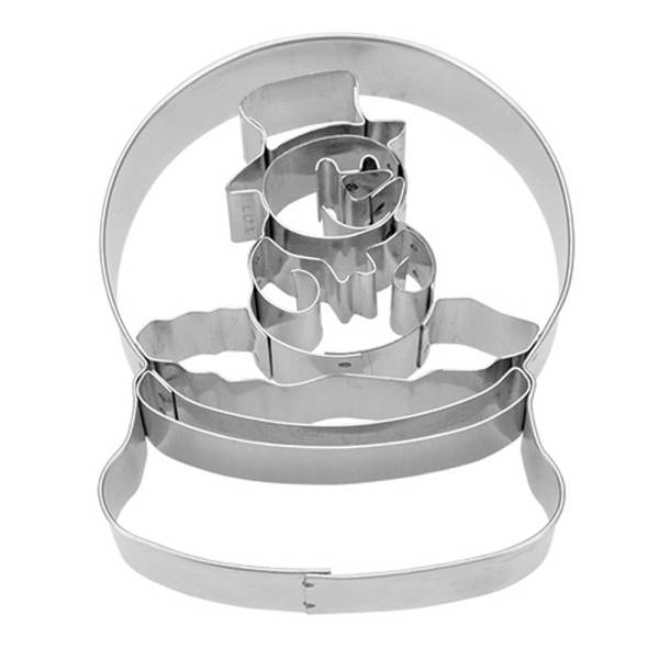 Snowglobe with Snowman Cookie Cutter