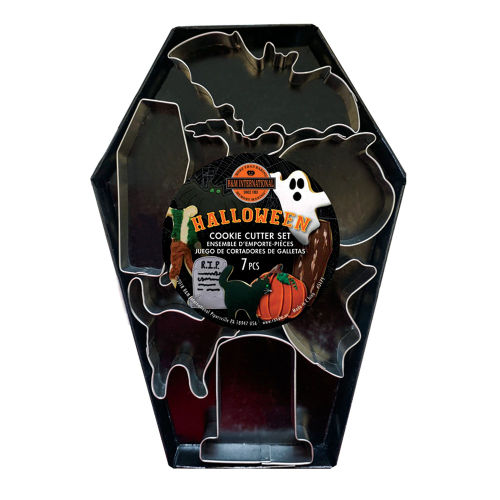 Halloween Cutter Set In Coffin Package