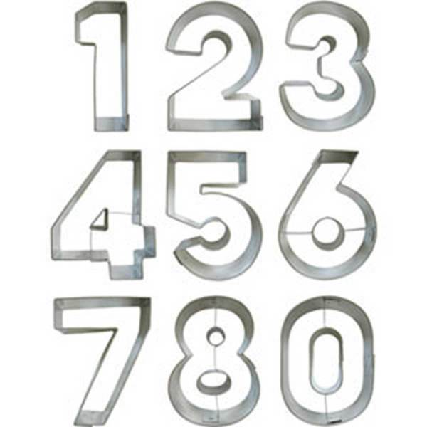 Numbers Cookie Cutter Set, Large
