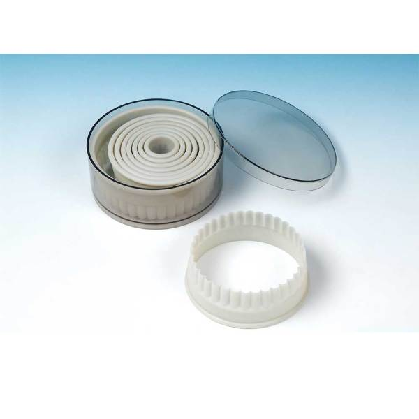 LTD QTY!  Round Fluted Edge Cookie Cutter Set