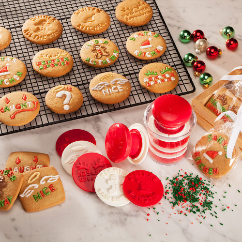 Santa's Kitchen Cookie Stamp Set