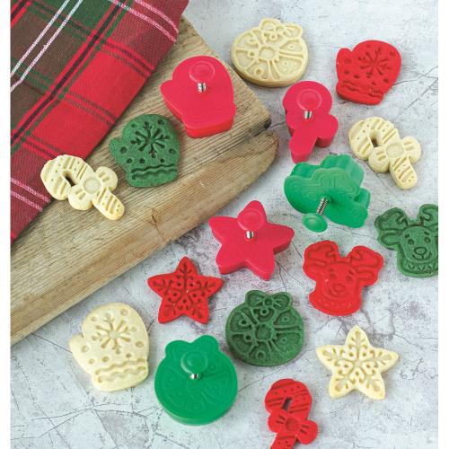 LTD QTY!  Festive Christmas Cookie Stamper Set