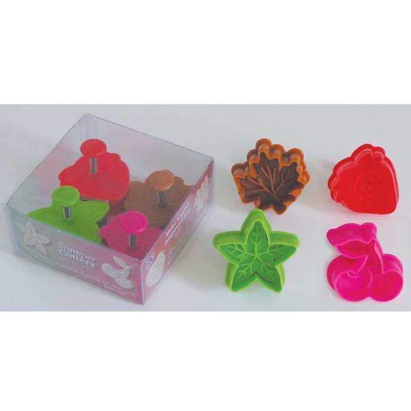 Fruit & Leaf Cookie Stamp & Cutter Set