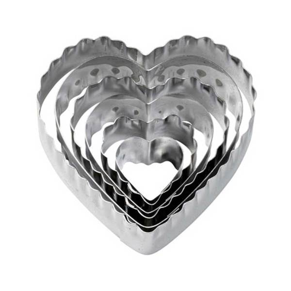 Graduated Heart Double-Sided Cookie Cutters, Set of 6