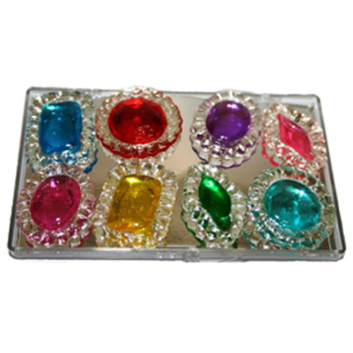Assorted Diva Designs Edible Sugar Cake Jewels