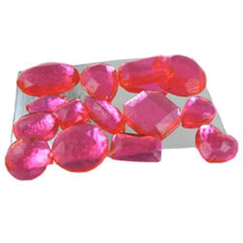 Pink Assorted Edible Sugar Gem Stones