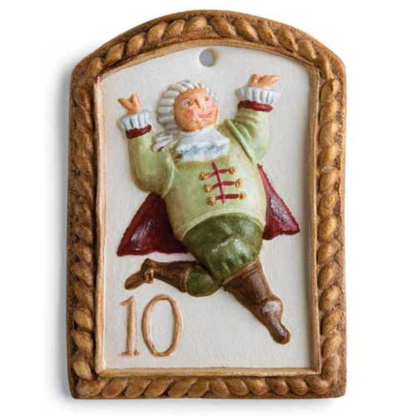 10th Day of Christmas Lords Leaping Cookie Mold