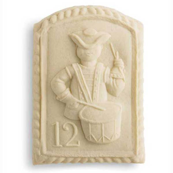 12th Day of Christmas Drummers Drumming Cookie Mold