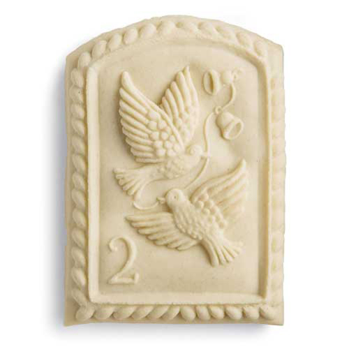 2nd Day of Christmas Turtle Doves Cookie Mold