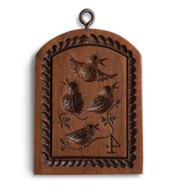 4th Day of Christmas Colly Birds Cookie Mold