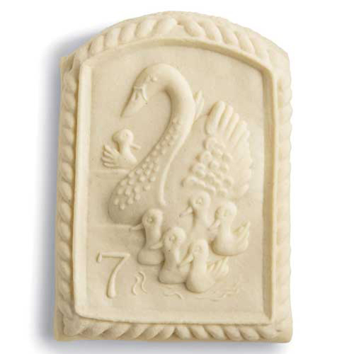 7th Day of Christmas Swans Swimming Cookie Mold