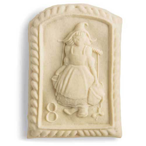 8th Day of Christmas Maids Milking Cookie Mold