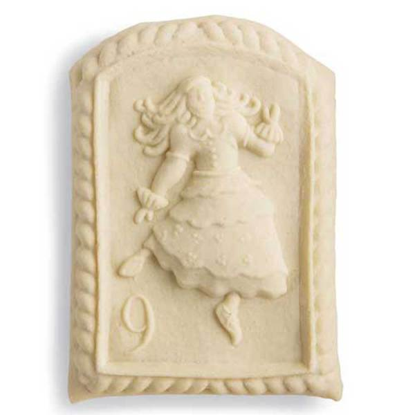 9th Day of Christmas Lady Dancing Cookie Mold