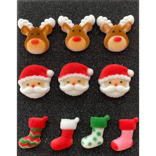 SALE!  Christmas Trio Sugar Decorations