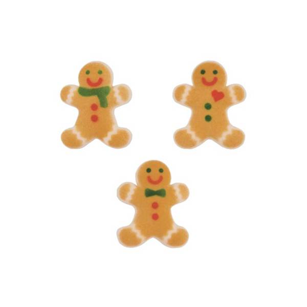 Fancy Gingerbread Man Sugar Decorations