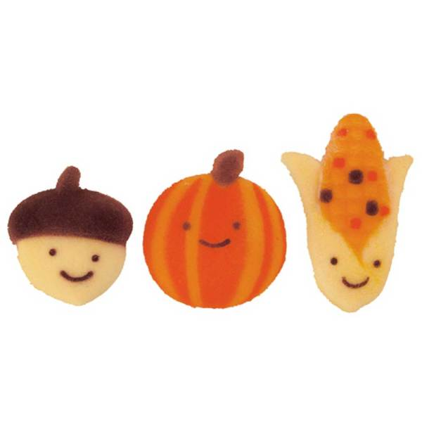 Autumn Friends Sugar Decorations