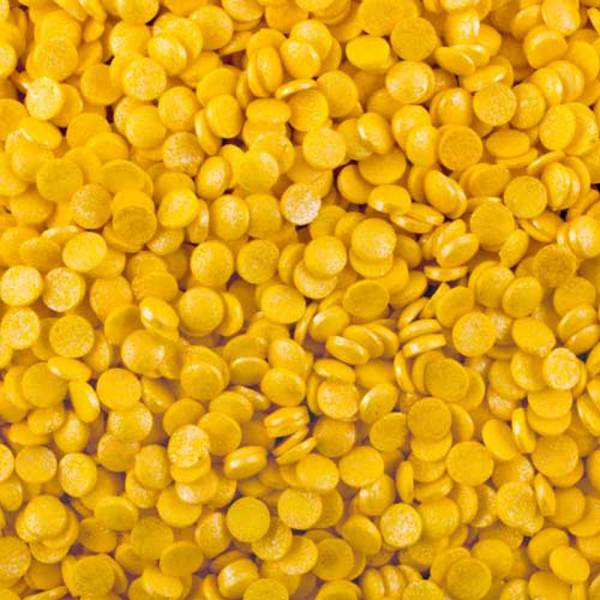 Yellow Shimmer Confetti