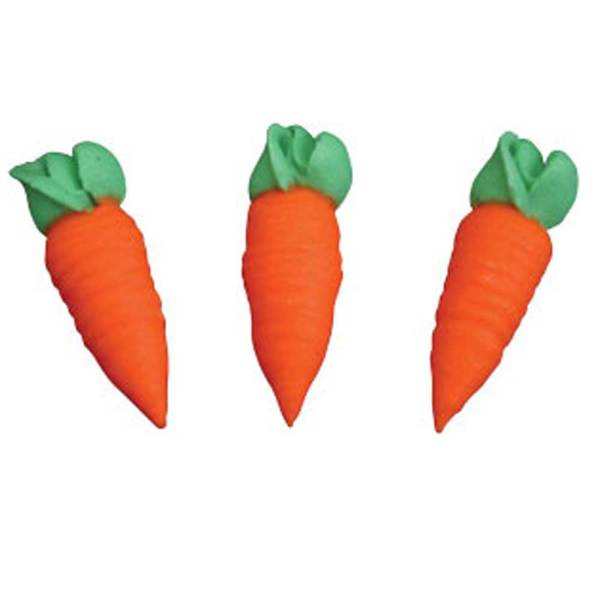 Carrots Icing Decorations 1.25""