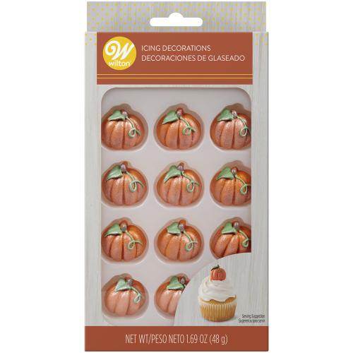 LTD QTY!  Shimmer Pumpkin Icing Decorations