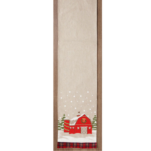 Red Barn Table Runner