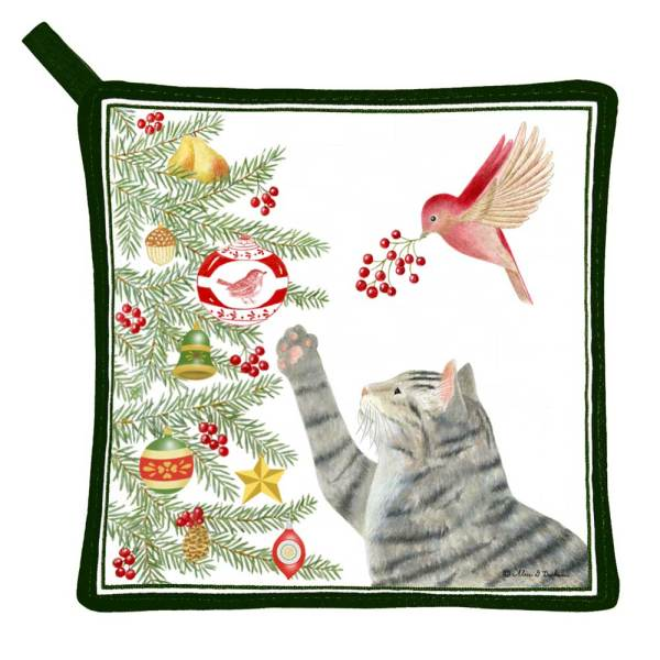 SOS! Playful Cat Potholder