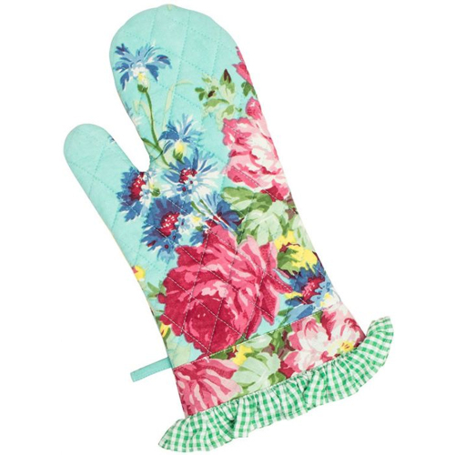 SALE!  Floral Patchwork Oven Mitt